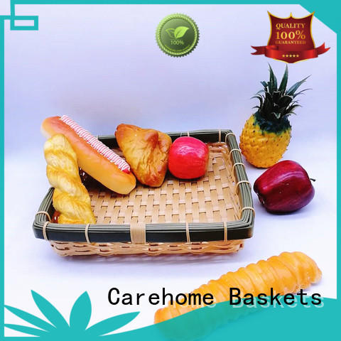 Carehome colorful Bamboo Basket for market