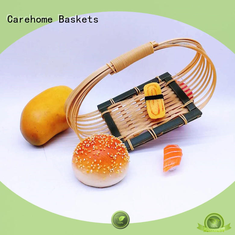 Carehome washable large wicker baskets basket for supermarket