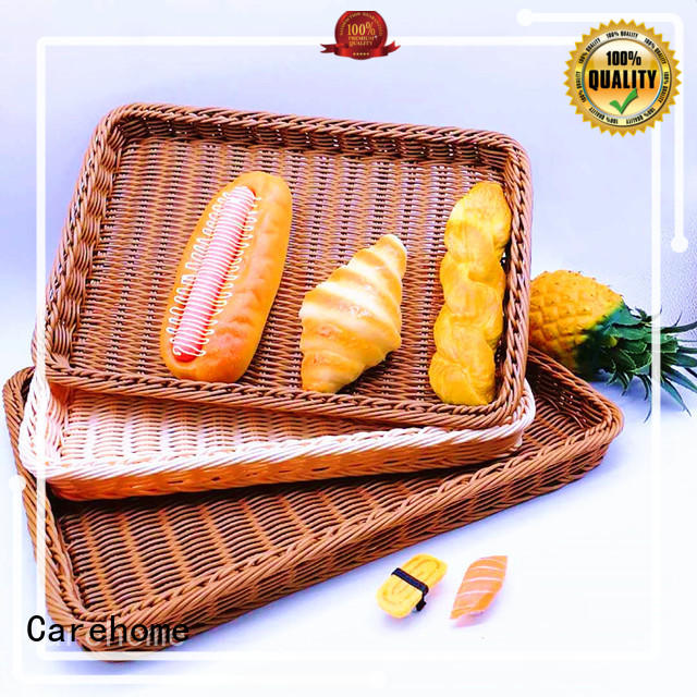 Carehome weaving wooden bread basket with high quality for supermarket
