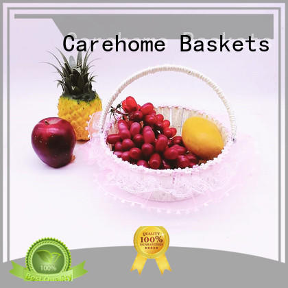 high quality wicker gift baskets lace with high quality for shop