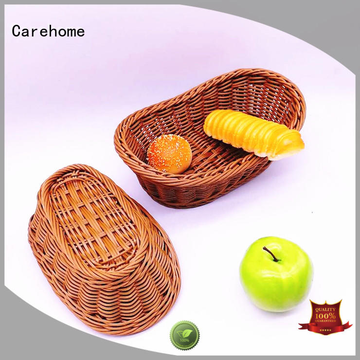 Carehome rattan wicker baskets kitchen factory for supermarket