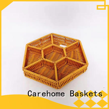Carehome durable wicker gift baskets with high quality for supermarket