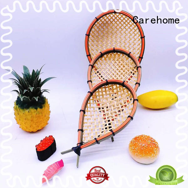 Carehome hollow Bamboo Basket with high quality for sale