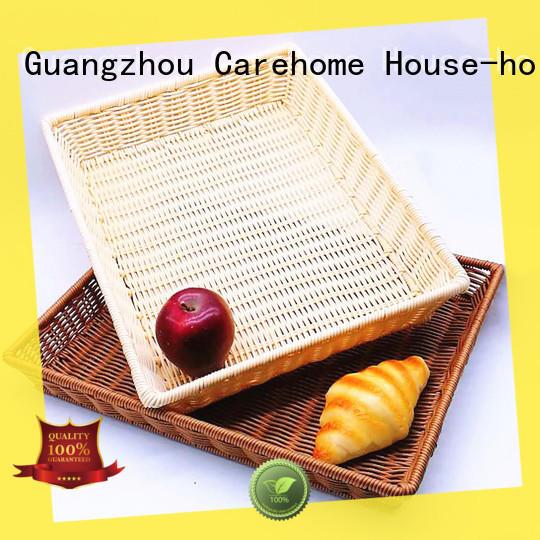 Carehome weave wicker bread basket manufacturer for shop