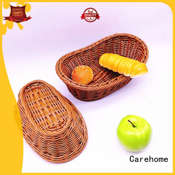 Carehome rounded wicker baskets kitchen supplier for market