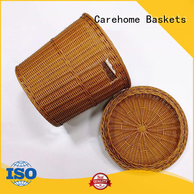 Carehome washable wicker laundry basket with high quality for shop