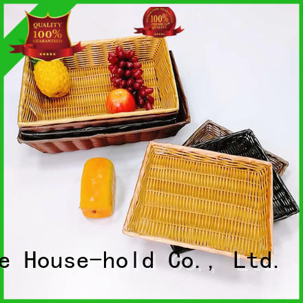 plastic rectangular bread basket with high quality for shop