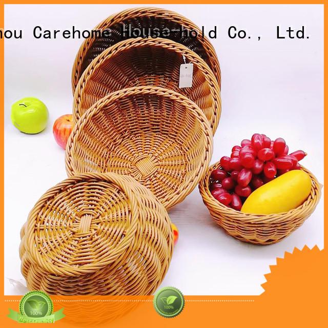 Carehome handmade wicker bread basket vegetable for supermarket