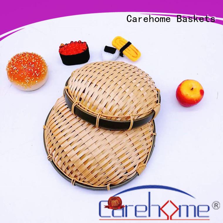 Carehome hollow Bamboo Basket class for supermarket