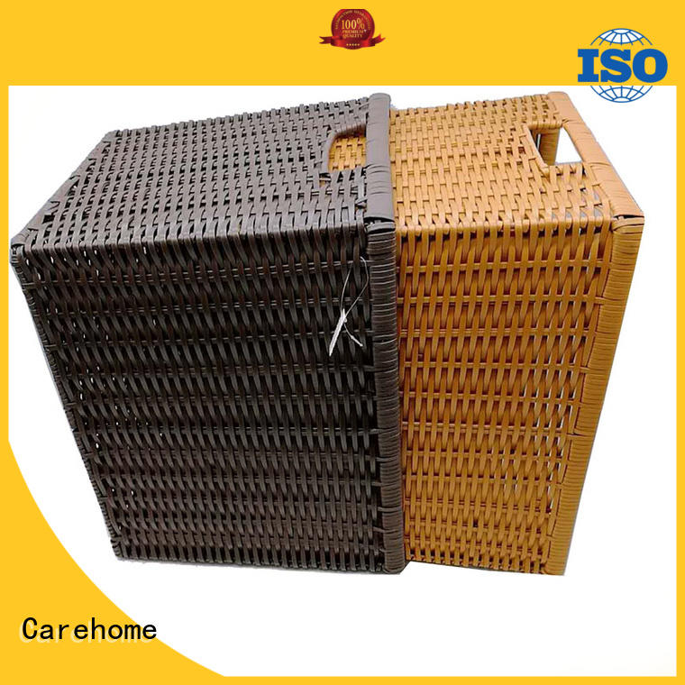 Carehome durable wicker clothes basket hotel for supermarket
