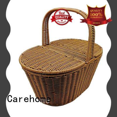 Carehome weaved wicker storage baskets for shelves manufacturer for supermarket
