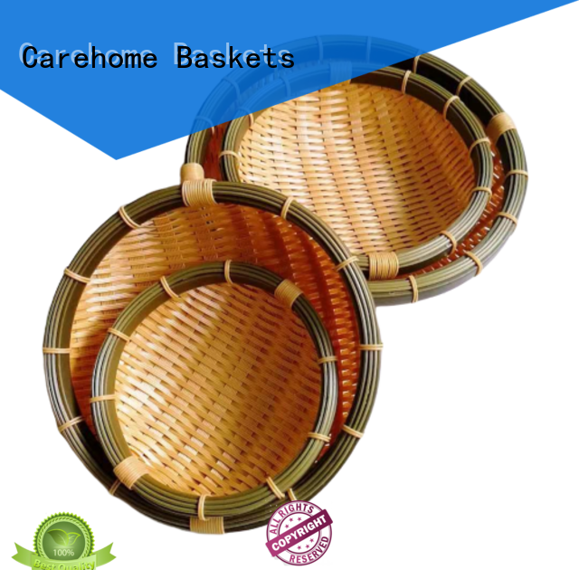 Carehome price bamboo basket restaurant with high quality for sale